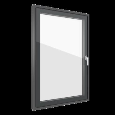 Finestre con estetica a tutto vetro