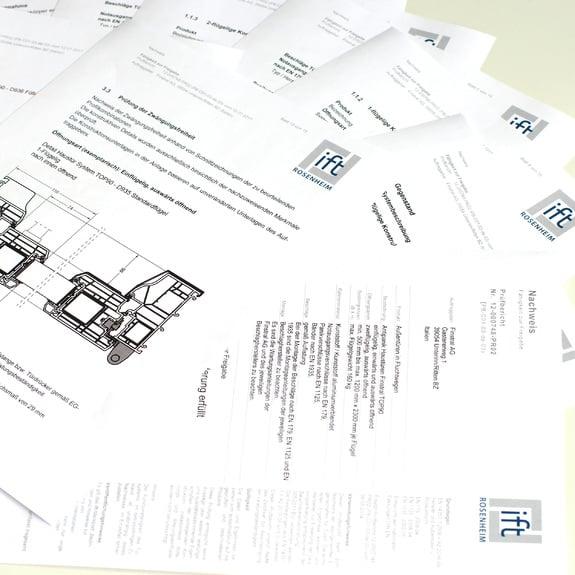 Normative di prodotto e certificati di prova