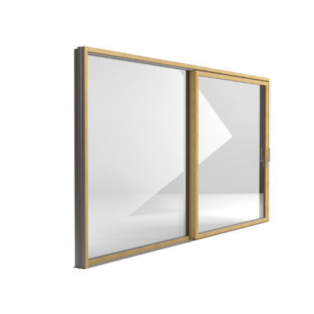 FIN-Slide Slim-line aluminium-wood