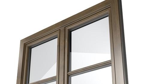 Aluminium-Holzdekor