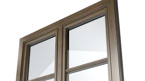 Alluminio con decori ad effetto legno