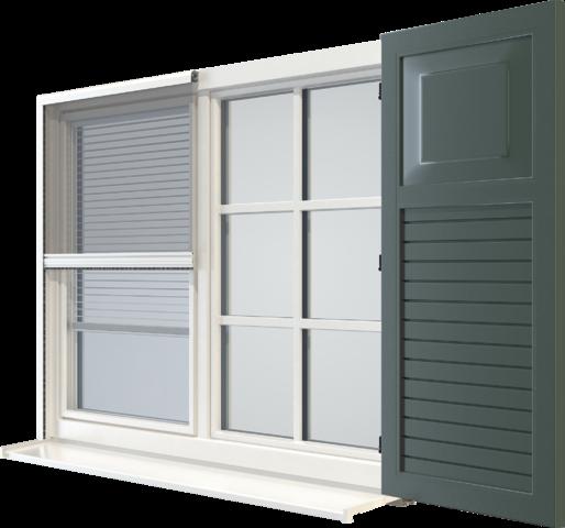Uma janela.<br /> Quatro dimensões.