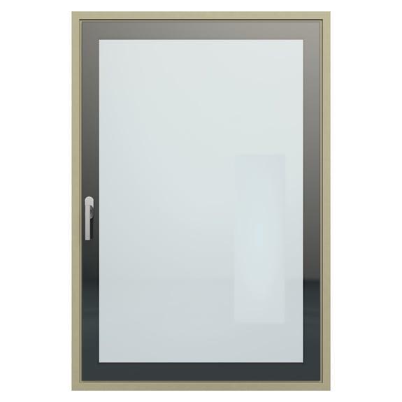 Expressão reduzida pelo exterior e estética tudo em vidro pelo interior.