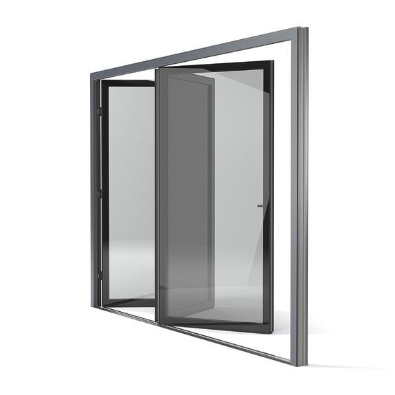 También disponible como puerta corredera o plegable.