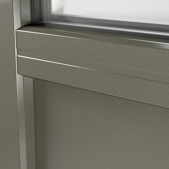 Glatte Füllungen sind in allen unseren Kunststoff- und Aluminiumfarben erhältlich.
