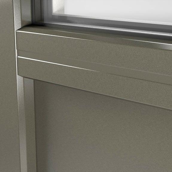 Gladde panelen zijn in al onze kunststof- en aluminiumkleuren verkrijgbaar.