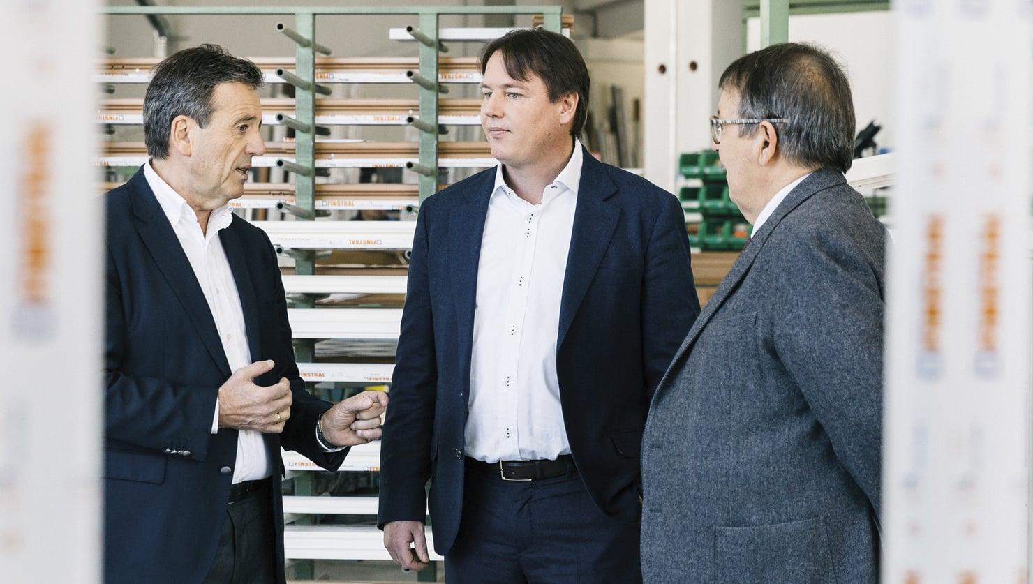 Hans, Luis and Joachim Oberrauch