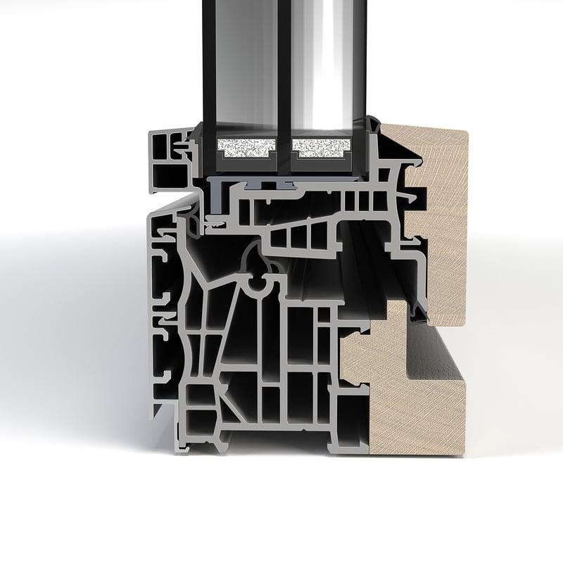 Aluminium-hout