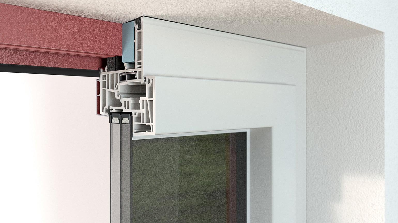 Montaje con marco de renovación por el interior