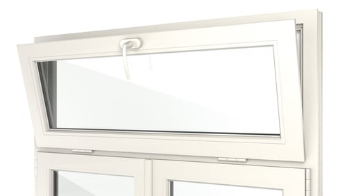 Oberlicht-Kipp-Fensteröffnung