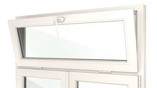Ouverture de fenêtre avec imposte à soufflet