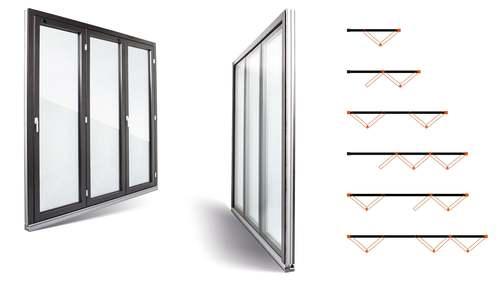 Porta-finestra a libro FIN-Fold