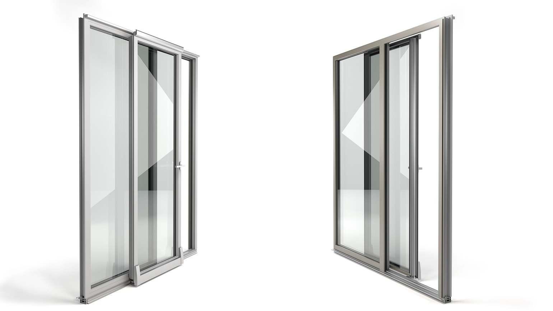 Porta-finestra scorrevole parallela