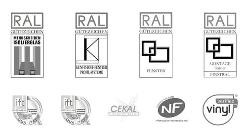 Gütezeichen und -zertifikate