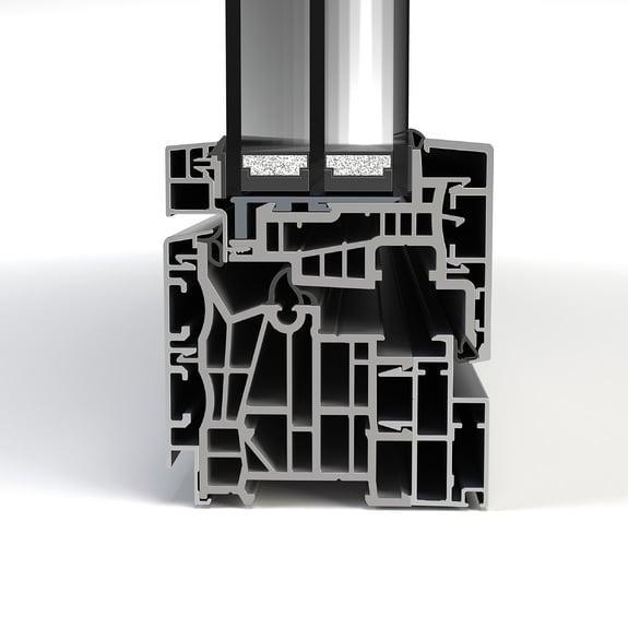Alu-Rahmenprofil mit hoher Dämmung