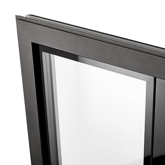 Narrow aluminium window sashes