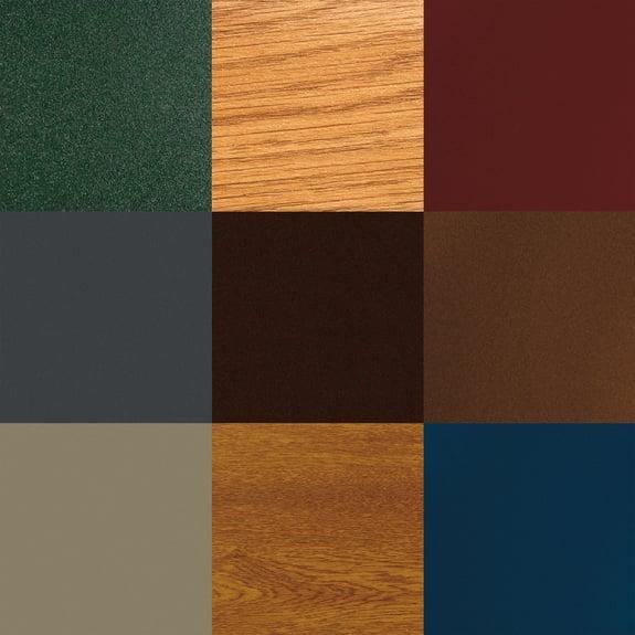 Siempre la gama completa de colores.