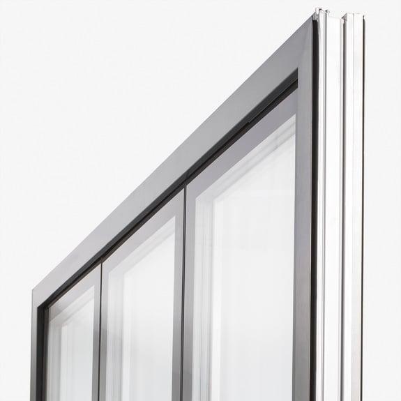 Spettacolare: una grande superficie vetrata.