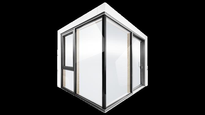 Fachada em vidro FIN-Vista