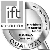 Qualidade certificada pelo ift para janelas FIN-72, FIN-90 e FIN-Project