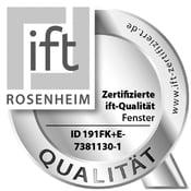 Qualité certifiée ift des fenêtres FIN-72, FIN-90 et FIN-Project