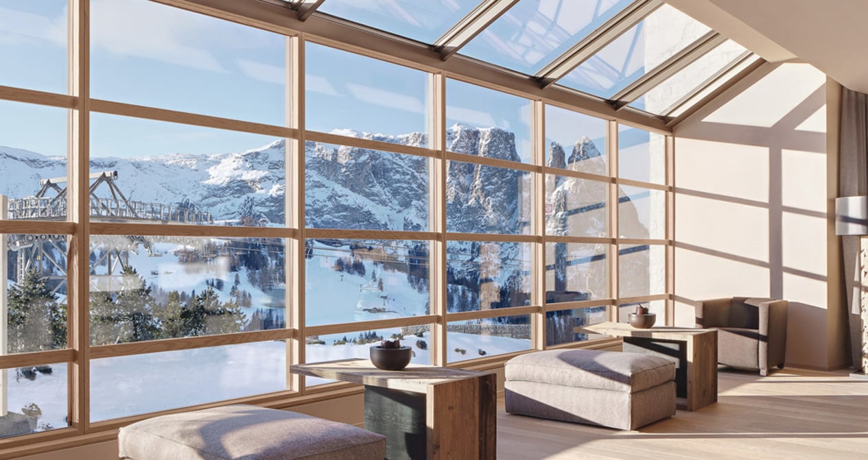 Innovadoras ventanas de madera.