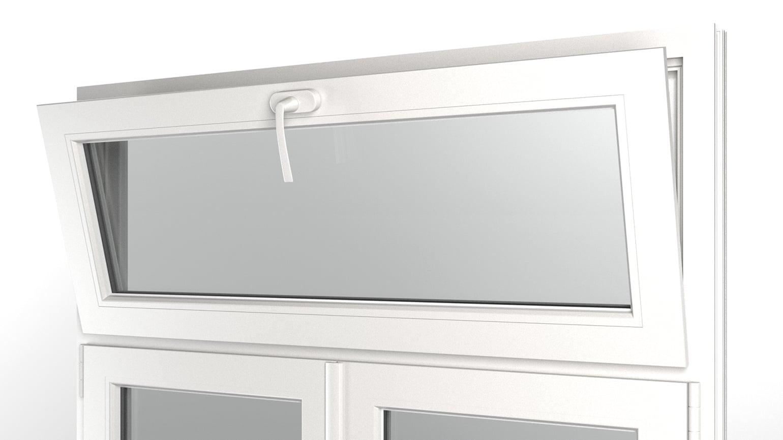 Ouverture De Fenêtre Avec Imposte à Soufflet Finstral Ag