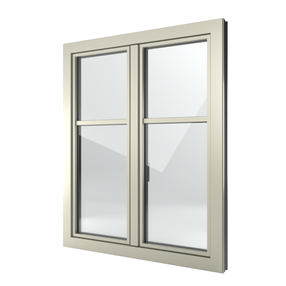 FIN-Window Slim-line 77+8 aluminium-PVC