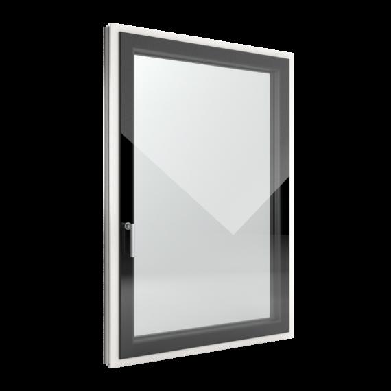 FIN-Window Slim-line Cristal 77+8 Aluminium-Kunststoff