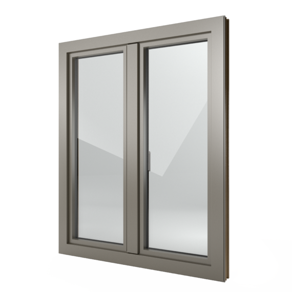 FIN-Window Step-line 77+8 Aluminium-Kunststoff