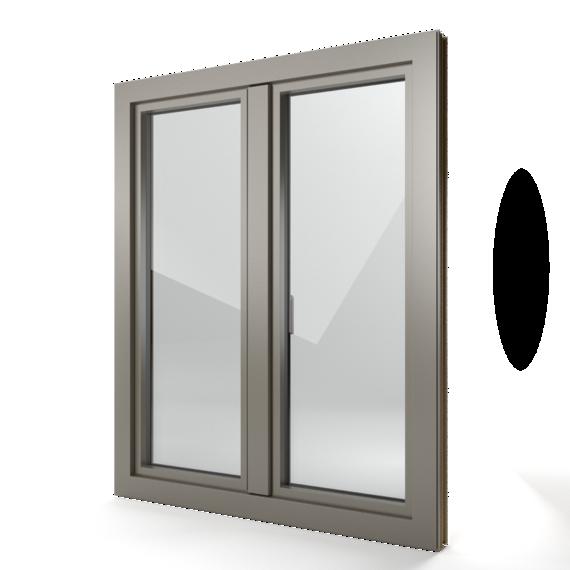 FIN-Window Step-line 77+8 Aluminium-Kunststoff