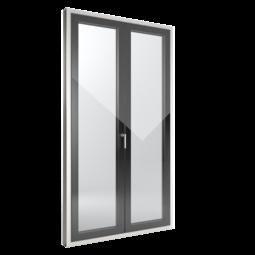 FIN-Window Slim-line Cristal 90 Kunststoff-Kunststoff