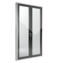 FIN-Window Slim-line Cristal 90 PVC-PVC