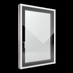 FIN-Window Slim-line Cristal C 90+8 Aluminium-Kunststoff