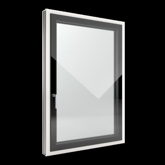 FIN-Window Slim-line Cristal C 90+8 aluminium-PVC