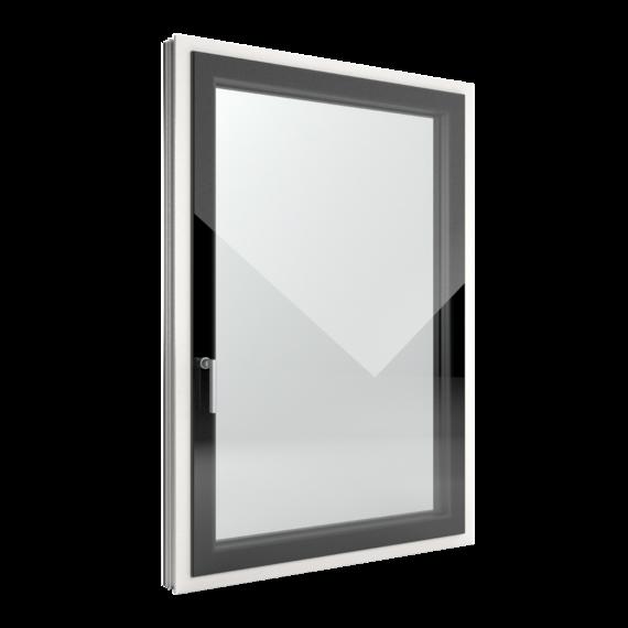 FIN-Window Slim-line Cristal N 90+8 Aluminium-Kunststoff
