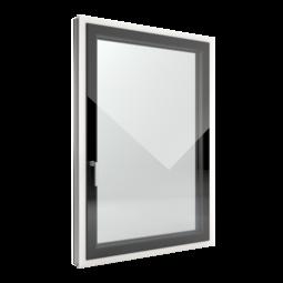 FIN-Window Slim-line Cristal N 90+8 aluminium-PVC