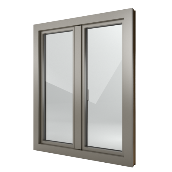 FIN-Window Step-line N 90+8 Aluminium-Kunststoff
