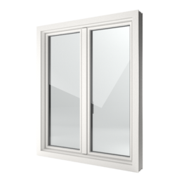 FIN-Window Slim-line 124 PVC-PVC