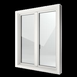 FIN-Window Slim-line 124 PVC-PVC