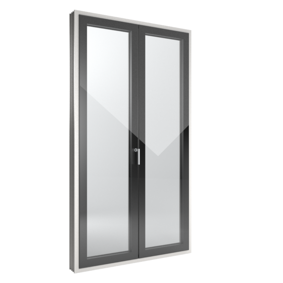 FIN-Window Slim-line Cristal 124 Kunststoff-Kunststoff