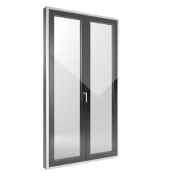 FIN-Window Slim-line Cristal 124 PVC-PVC