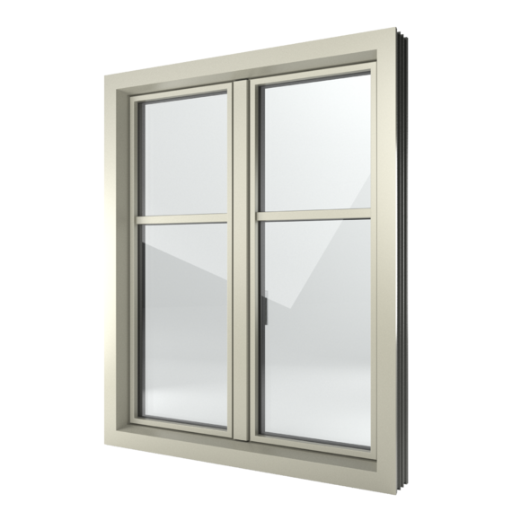 FIN-Window Slim-line 124+3 Alluminio-PVC
