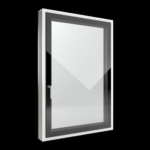 FIN-Window Slim-line Cristal 124+3 Alluminio-PVC