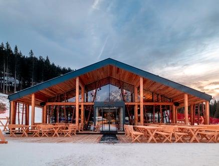 "The ""Zin Fux"" ski hut in Sexten"