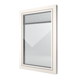 FIN-Window Slim-line Twin 77 PVC-PVC