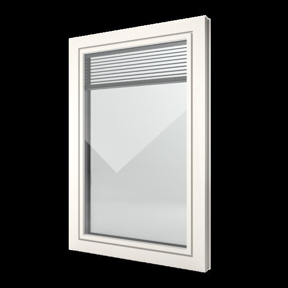 FIN-Window Slim-line Twin 77 Kunststof-Kunststof