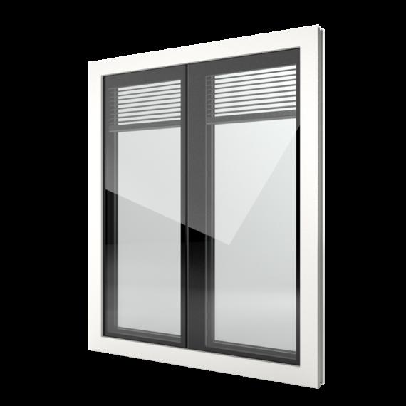FIN-Window Nova-line Twin 77 Kunststoff-Kunststoff