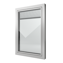 FIN-Window Slim-line Twin 77+8 Aluminium-Kunststoff