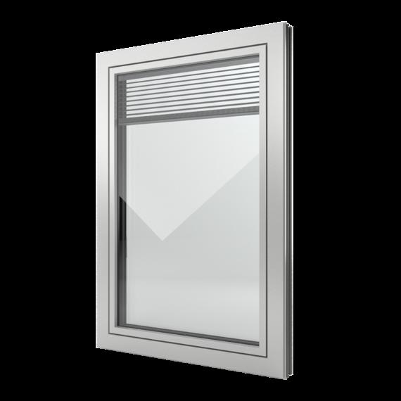 FIN-Window Slim-line Twin 77+8 Aluminium-Kunststoff